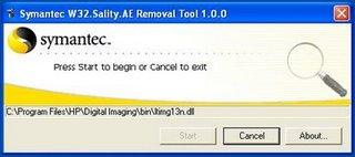 virus sality removal tool